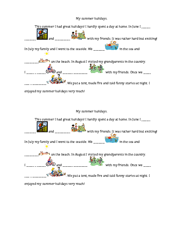 summer activities worksheets and creative lesson ideas my summer holidays