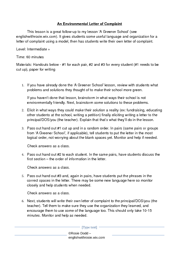 To write a letter of complaint how to write a letter of complaint letter of complaint environmental letter of complaint spiritdancerdesigns Image collections