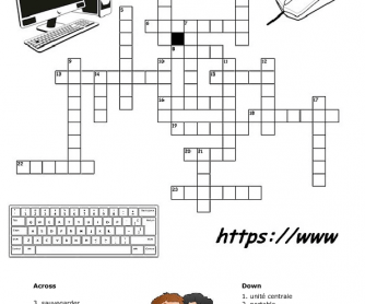 french english computer terms crossword 2. Black Bedroom Furniture Sets. Home Design Ideas