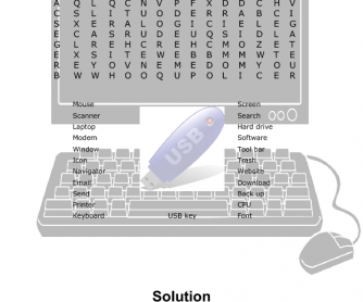 French English Computer Terms Word Search 2