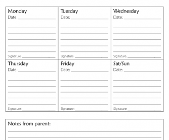 Back to School - Homework Plan