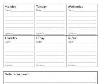 Back to School - Homework Plan