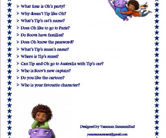 Movie Worksheet: Home (Cartoon)