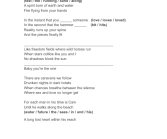 Song Worksheet: The One by Elton John