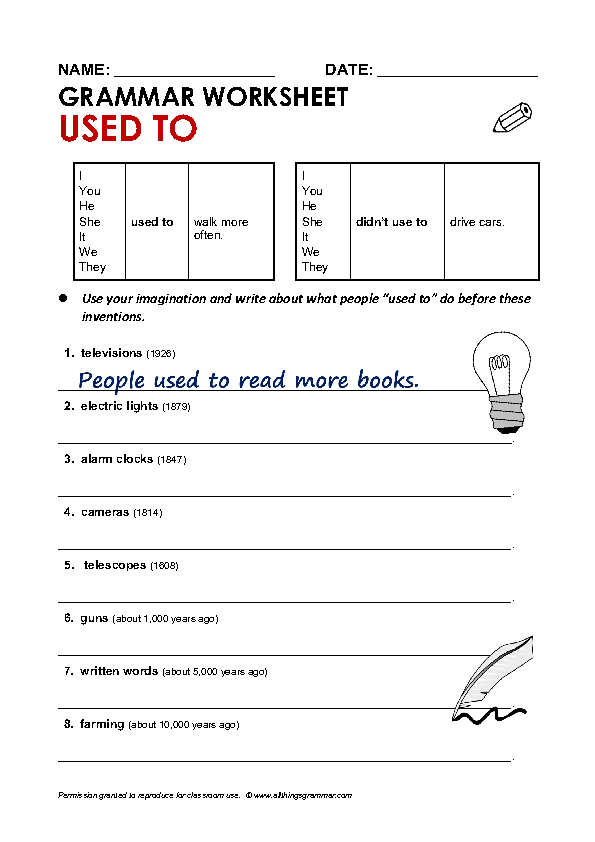 Proatmealus  Unusual  Free Used To And Would Worksheets With Marvelous Grammar Worksheet Used To With Breathtaking Multidigit Addition And Subtraction Worksheets Also Algebra Worksheets For Grade  In Addition Context Clues Worksheets With Answers And Past Present Tense Worksheets As Well As Number Tracing Worksheets For Kindergarten Additionally Subtraction By Regrouping Worksheets From Busyteacherorg With Proatmealus  Marvelous  Free Used To And Would Worksheets With Breathtaking Grammar Worksheet Used To And Unusual Multidigit Addition And Subtraction Worksheets Also Algebra Worksheets For Grade  In Addition Context Clues Worksheets With Answers From Busyteacherorg