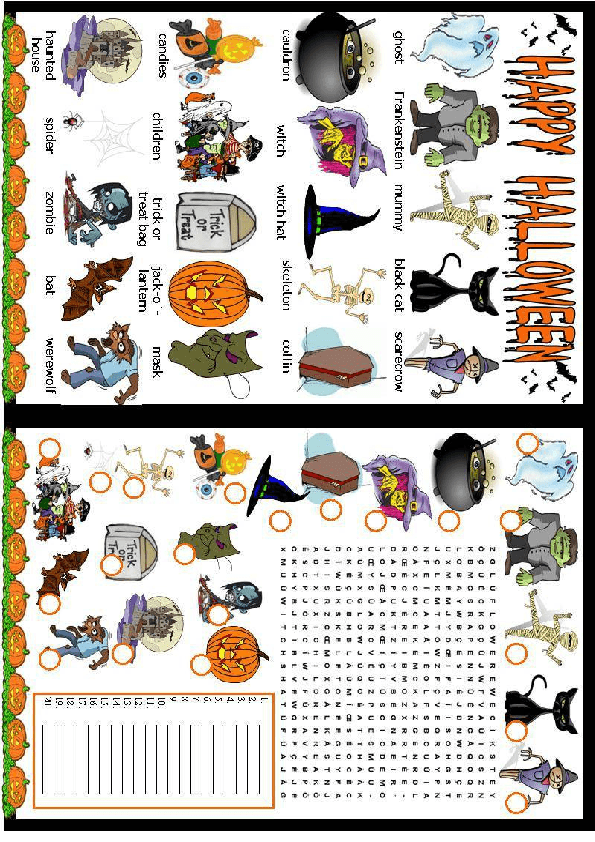 214 FREE Halloween Worksheets – Halloween Worksheet