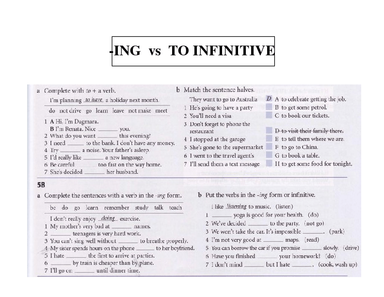 Gerund Infinitive - Grammar Exercises - Learning English
