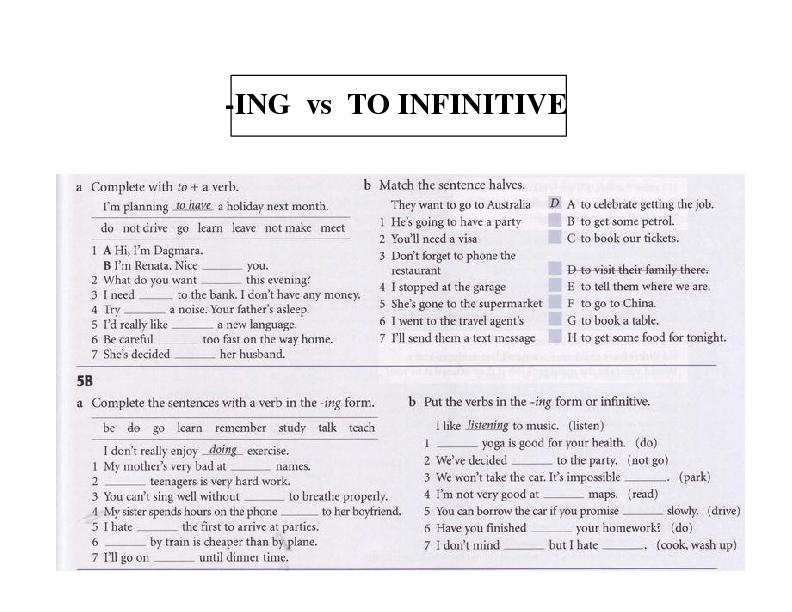 Printable Worksheets good vs well worksheets : 134 FREE Infinitive And Gerund Worksheets