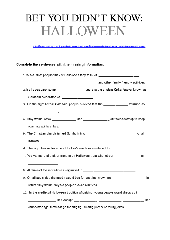 Printable Worksheets halloween homework worksheets : 214 FREE Halloween Worksheets