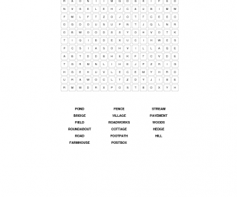 Landscapes Word Search