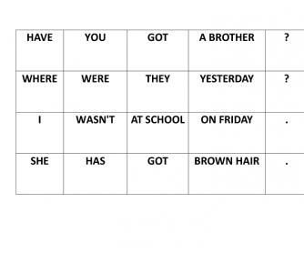 Create Sentences