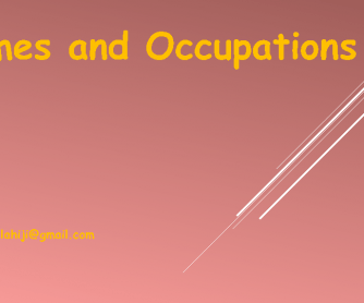 Names and Occupations