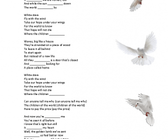 Song Worksheet: White Dove