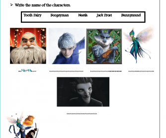 Movie Worksheet: Rise of the Guardians