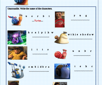 Movie Worksheet: Turbo