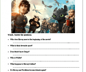 Movie Worksheet: How to Train Your Dragon 2