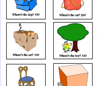 Game- Prepositions