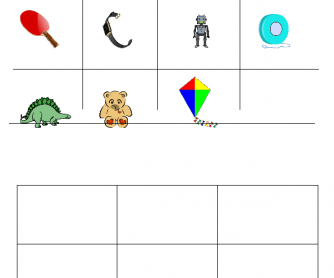 Toys - Bingo and Drawing Exercise