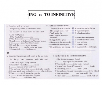 Ing vs To Infinitive