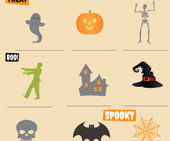 Halloween Vocabulary Match Up