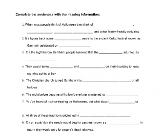 Movie Worksheet: Bet You Didn't Know - Halloween