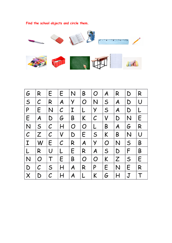 Modular Classroom Crossword ~ Puzzle vocabulary worksheet