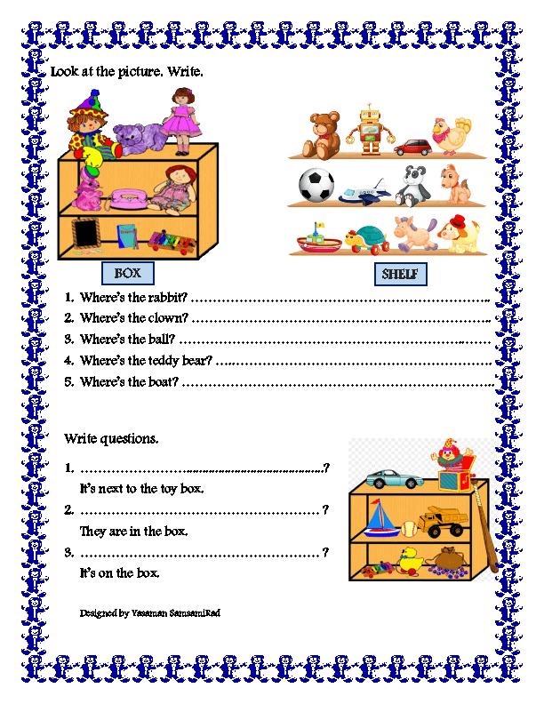 of Place – Prepositions of Place Worksheet