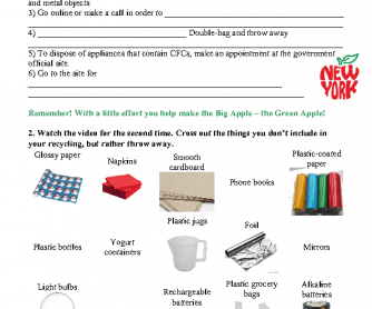 Movie Worksheet: How to Recycle in New York City