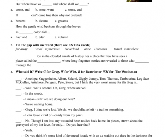 Weirdmailus  Wonderful  Free Halloween Worksheets With Excellent Movie Worksheet Over The Garden Wall  Episodes With Archaic Th Grade Order Of Operations Worksheets Also Phonics Blends Worksheets Free In Addition Free Printable Math Worksheets Grade  And Clock Face Worksheets Printable As Well As Editing Paragraph Worksheets Additionally Worksheet English For Kids From Busyteacherorg With Weirdmailus  Excellent  Free Halloween Worksheets With Archaic Movie Worksheet Over The Garden Wall  Episodes And Wonderful Th Grade Order Of Operations Worksheets Also Phonics Blends Worksheets Free In Addition Free Printable Math Worksheets Grade  From Busyteacherorg