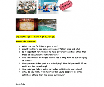 FCE Speaking Test Parts 3 and 4