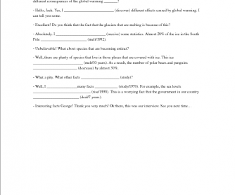 Interview (Present Perfect with Adverbs)