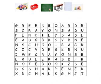 Puzzle Vocabulary Worksheet