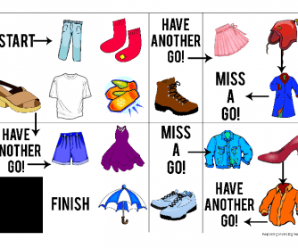 Clothes Board Game for Kids