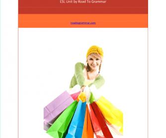 ESL Unit: Shopping
