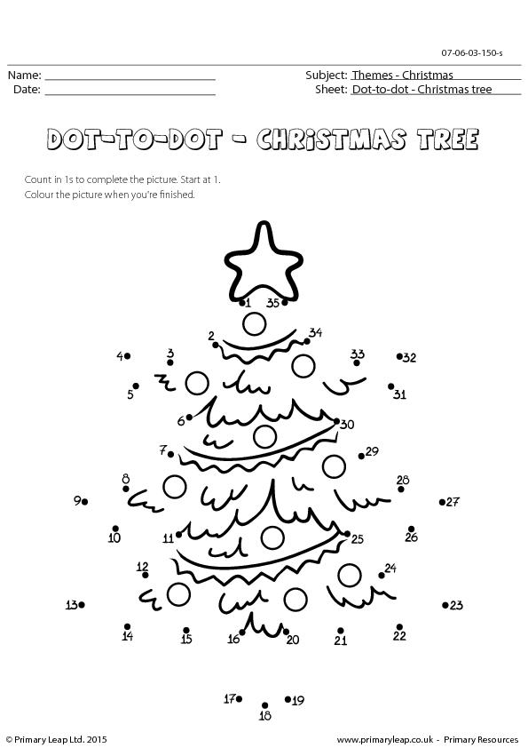 Dot-to-dot - Christmas Tree