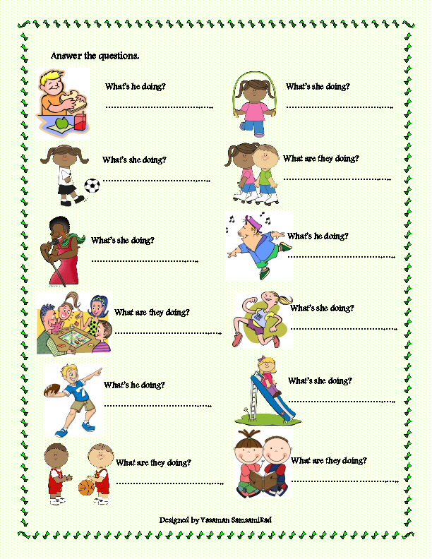 This worksheet includes the vocabulary items related to the activities ...