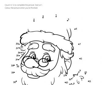 Dot-to-dot - Santa Claus