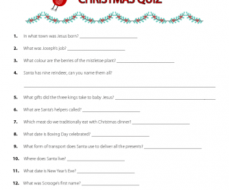 Christmas Fun Quiz