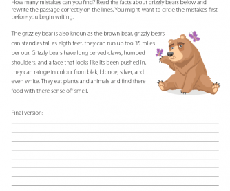 Printables Punctuation Worksheets 39 free punctuation worksheets rewriting and editing grizzly bear facts