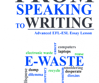 From Speaking to Writing Essay Lesson about Electronic Waste