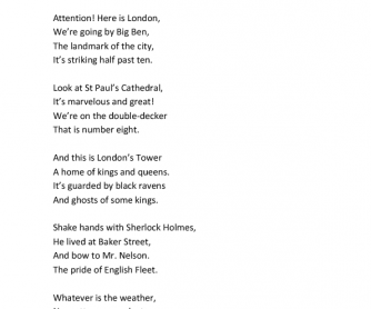 Around London Poem