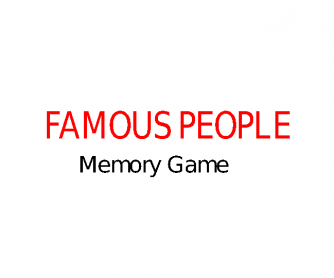 Famous People (Memory Game)