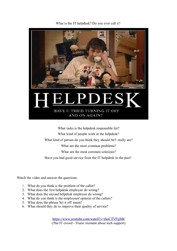 it helpdesk questions