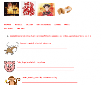 Chinese New Year Vocabulary