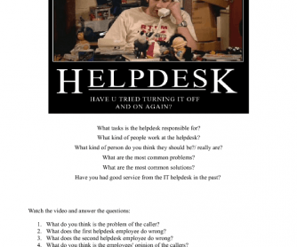 Movie Worksheet: IT Help Desk Service