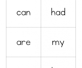 High Frequency Words - Can to Her