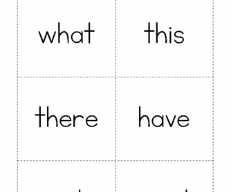 High Frequency Words - What to Went
