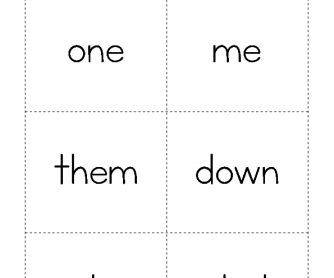 High Frequency Words - One to Dad
