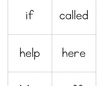 High Frequency Words - If to Off