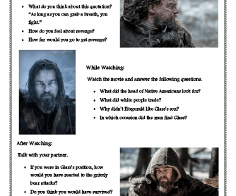 Movie Worksheet: The Revenant